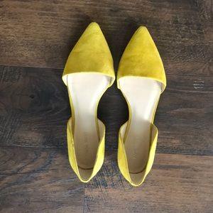 Nine West Pointy Flats - Yellow